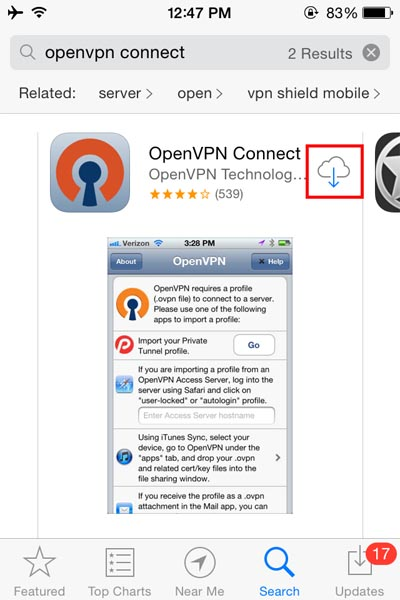 How to setup OpenVPN on iPhone iPad , iPod Touch