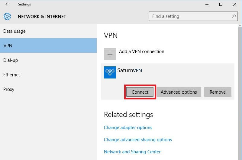 connect to l2tp vpn on windows 10